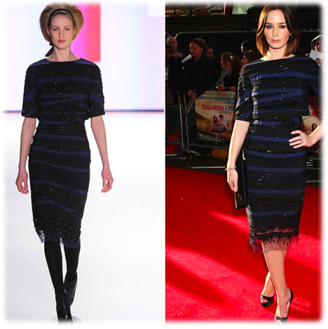 Emily Blunt Carolina Herrera New York